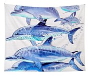 Porpoise Play Tapestry