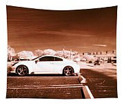 Porsche Car Side Profile Brown Near Infrared  Tapestry