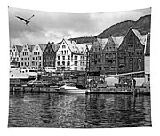 Port Life Bw Tapestry