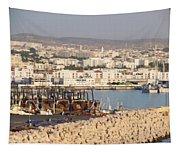 Port Of Agadir Morocco Tapestry