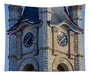 Port Washinton Court House Steeple 1  Tapestry