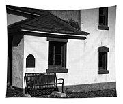 Port Wilson Lighthouse Bench Bw Tapestry