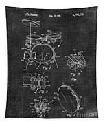 Portable Drum Set Patent 037 Tapestry