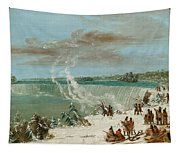 Portage Around The Falls Of Niagara At Table Rock Tapestry