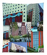 Portland Building Collage Tapestry