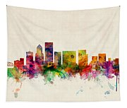 Portland Oregon Skyline Tapestry