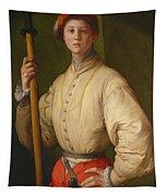 Portrait Of A Halberdier Tapestry