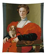 Portrait Of A Lady With A Lapdog Tapestry