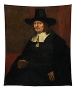 Portrait Of A Man In A Tall Hat Tapestry
