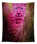 Portrait Of A Pink Leopard Tapestry