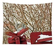 Winter Squirrel Tapestry