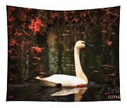 Portrait Of A Swan Tapestry