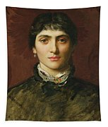 Portrait Of A Woman With Dark Hair Tapestry