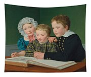 Portrait Of C F Holms Children Tapestry