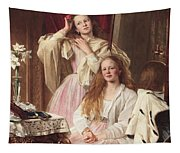 Portrait Of Emma And Frederica Bankes Tapestry