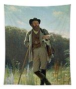 Portrait Of Ivan Ivanovich Shishkin Tapestry