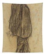 Portrait Of Joan Gay  Tapestry