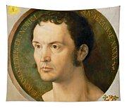 Portrait Of Johannes Kleberger Tapestry