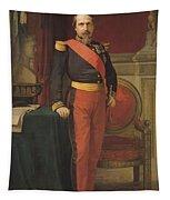 Portrait Of Napoleon IIi 1808-73 1862 Oil On Canvas Tapestry