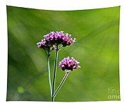 Portrait Of Purple Verbena Tapestry