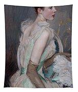 Portrait Of The Countess De Leusse Tapestry