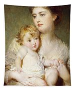Portrait Of The Duchess Of St Albans With Her Son Tapestry