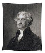 Portrait Of Thomas Jefferson Tapestry
