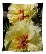 Portulaca Named Happy Hour Banana Tapestry