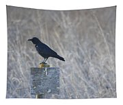 Posted Crow Tapestry