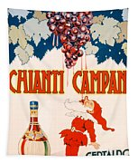 Poster Advertising Chianti Campani Tapestry