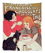 Poster Advertising The Compagnie Francaise Des Chocolats Et Des Thes Tapestry