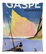 Poster Advertising The Gaspe Peninsula Quebec Canada Tapestry