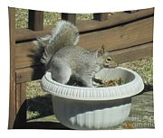 Potted Squirrel Tapestry