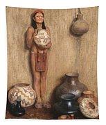 Pottery Vendor Tapestry