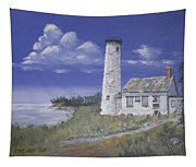 Poverty Island Lighthouse Tapestry