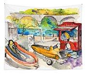 Power Boats World Championship In Barca De Alva 03 Tapestry