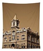 Powhantan Court House Sepia 2 Tapestry