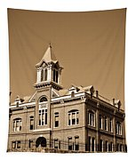 Powhatan Court House Sepia 5 Tapestry