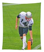 Practice At The Goal Line Tapestry