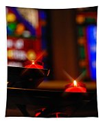 Prayer Candles Trinity Cathedral Pittsburgh Tapestry