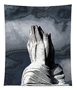 Praying Hands Tapestry