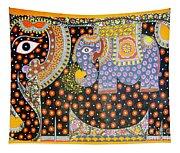 Pregnant Elephant Tapestry