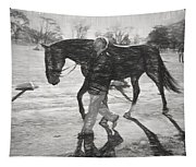 Presentation In Charcoal Tapestry
