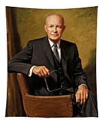 President Dwight D. Eisenhower By J. Anthony Wills Tapestry