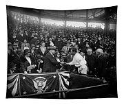 President Herbert Hoover And Baseball Great Walter Johnson 1931 Tapestry