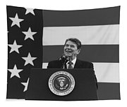 President Reagan American Flag  Tapestry