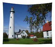 Presque Isle Mi Lighthouse 4 Tapestry