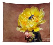 Prickly Pear And Bee Tapestry