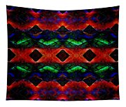 Primitive Textured Shapes Tapestry