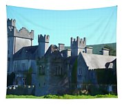 Private Property - Castle Art By Charlie Brock Tapestry